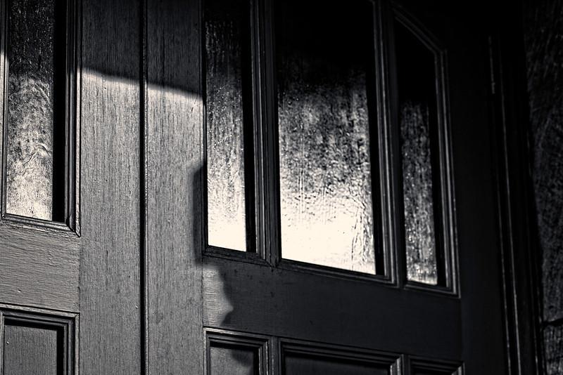 shadows on the door