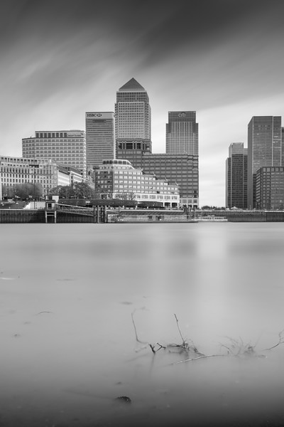 Canary Wharf London from Millwall Dock