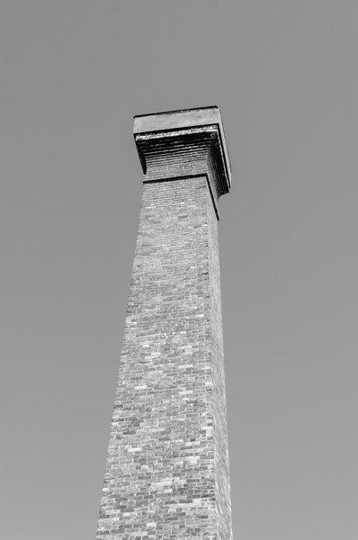 chimney in black and white...
