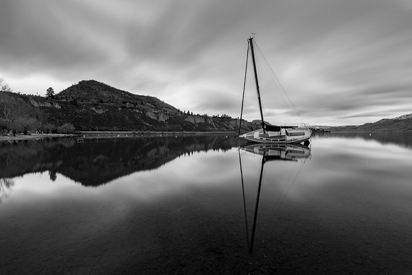 The Summerland Sailboat - A Long Exposure