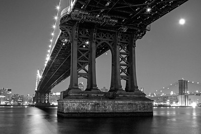 Manhattan Bridge, Night