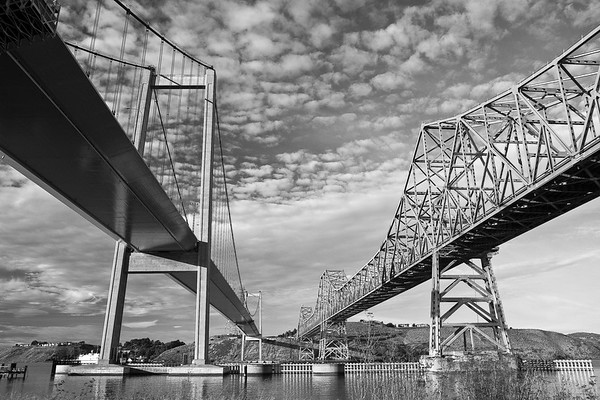 Two Bridges - Black and White