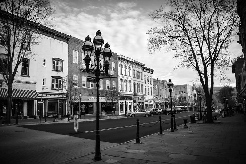 Architecture on Main Street in Bethlehem, Pennsylvania.
