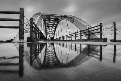 Hsinchu Rainbow Bridges Long Expo BW 5