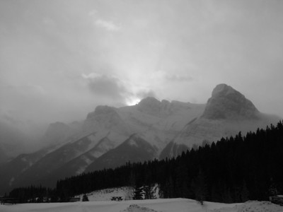 Canadian Rockies in Winter