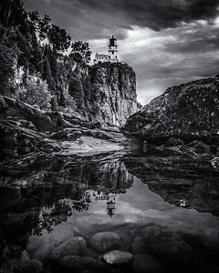 Split Rock Monochrome