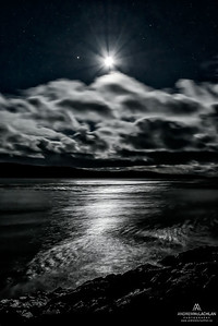 Night sky over Lake Superior, Wawa, Ontario, Canada