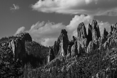 Spearfish Canyon in BW