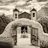 The pilgrimage site of El Santuario de Chimayo, a National Historic Landmark in Chimayo, New Mexico