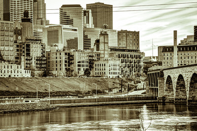 The Mill City - A Study in Sepia.