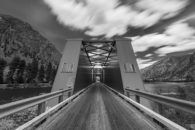 Keremeos Red Bridge BW Long Exposure 3