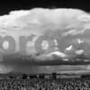 Rain cloud over Delta, Utah