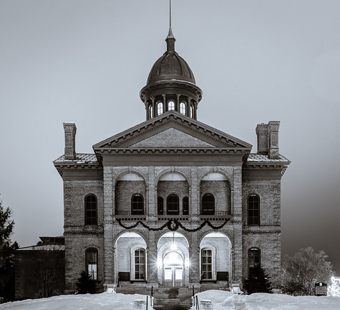 Historic Courthouse - Stillwater, Minnesota.  Black and white rendition.