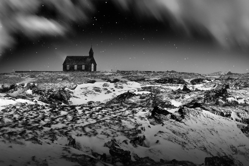 Black Church at Budir, Snaefellsnes Peninsula, Western Iceland