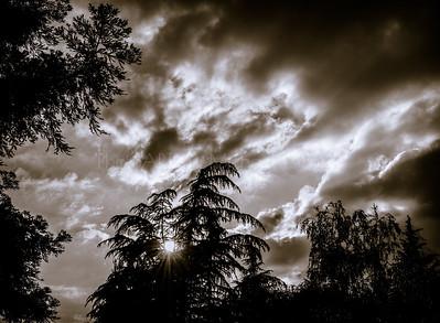 Darkened Sunset