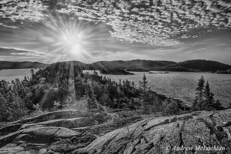 Daybreak at Hattie Cove on Lake Superior, Pukaskwa National Park, Ontario