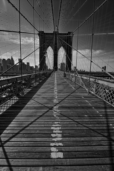 Walkway over the Brooklyn Bridge, New York City