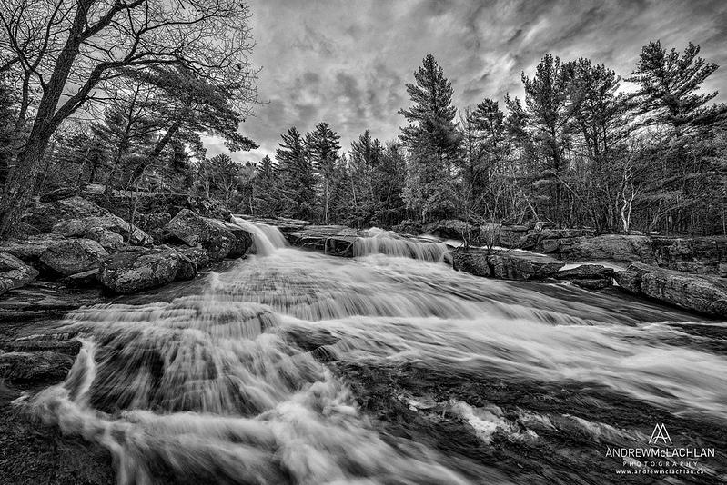 Lower Rosseau Falls on the Rosseau River in Muskoka, Ontario, Canada