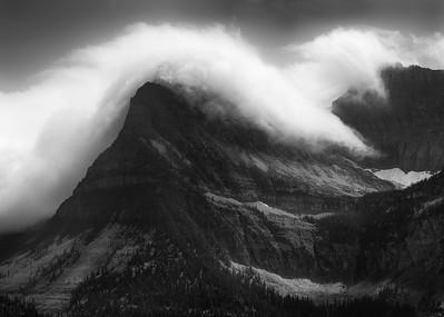 Storm Clouds Cresting - Glacier National Park