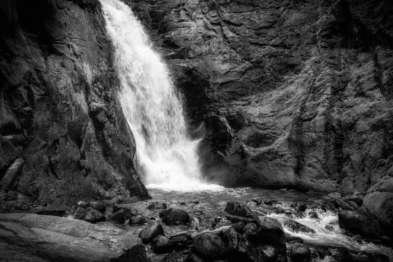 Tulip Creek Falls in Black and White
