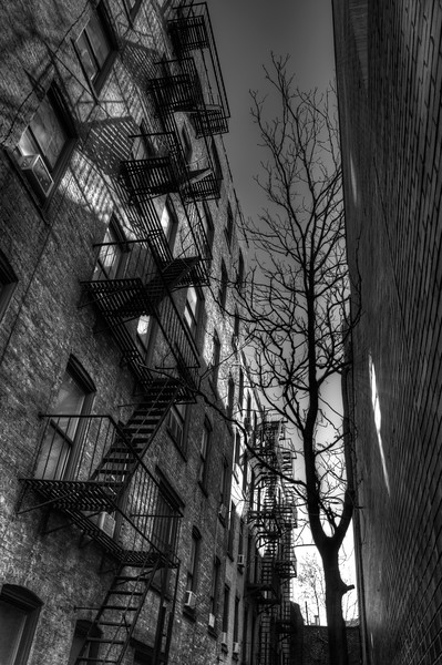 Fire Escapes in Greenwich Village, New York City