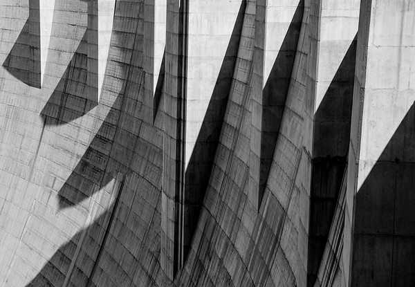 Hoover Dam: Study In Shapes and Shadows