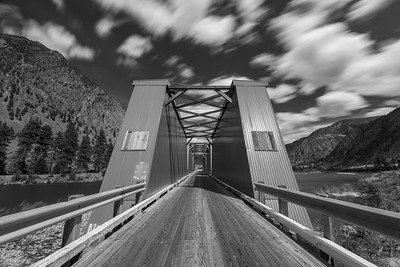 Keremeos Red Bridge BW Long Exposure