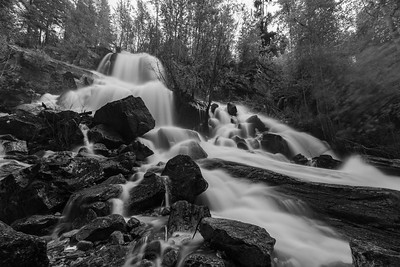 Naramata Falls BW 2020