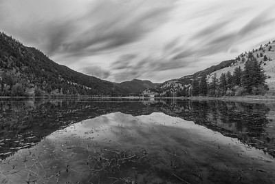 Twin Lakes Long Expsoure BW