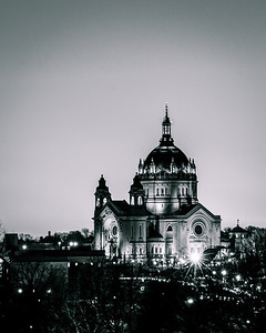 The Cathedral of Saint Paul, as seen from the grounds of the Minnesota state capitol in St. Paul.