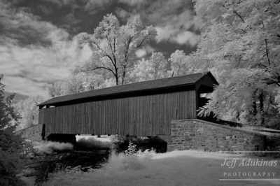 Covered Bridge BW