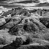 View of the Badlands, Badlands National Park, South Dakota