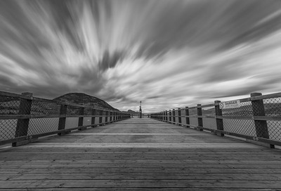Kiwanis Pier BW Long Burn