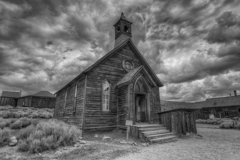 Old Methodist Church in Bodie Ghost Town, Bodie, California