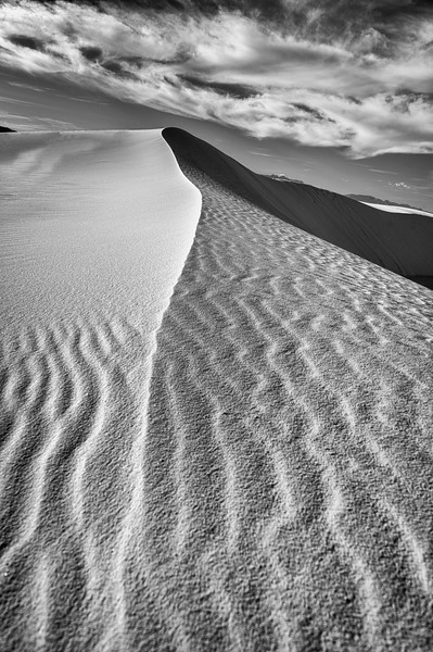 Sunset at White Sands National Monument in the northern Chihuahuan Desert, New Mexico