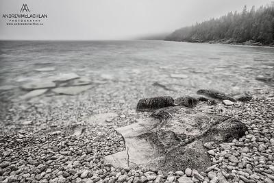Little Cove on Georgian Bay along the Niagara Escarpment in the Bruce Peninsula National Park, Ontario, Canada