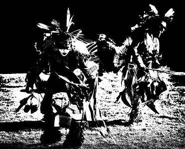 Native Powwow  Series b/w