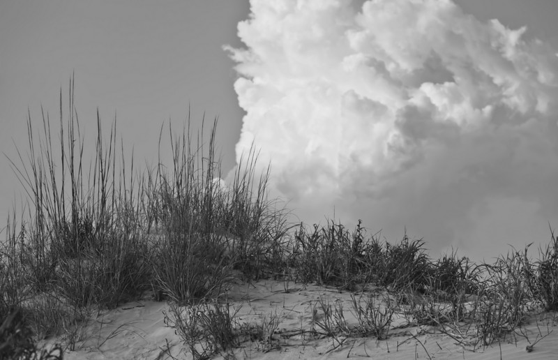 sand dune and clouds