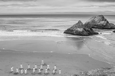 Karate on the beach