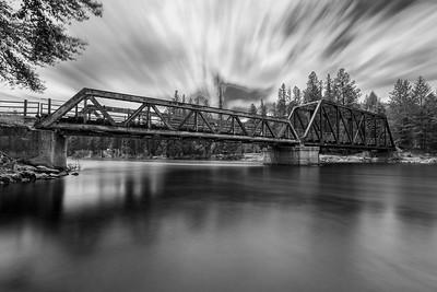 Kettle River Bridge BW Long Exposure