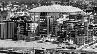 Standing the Test of Time -- The Gold Medal Flour mill and ruins, along with the North Star Blanket factory have stood the test of time, defying progress for a century, while the 30 year old HHH Metrodome awaits demolition.