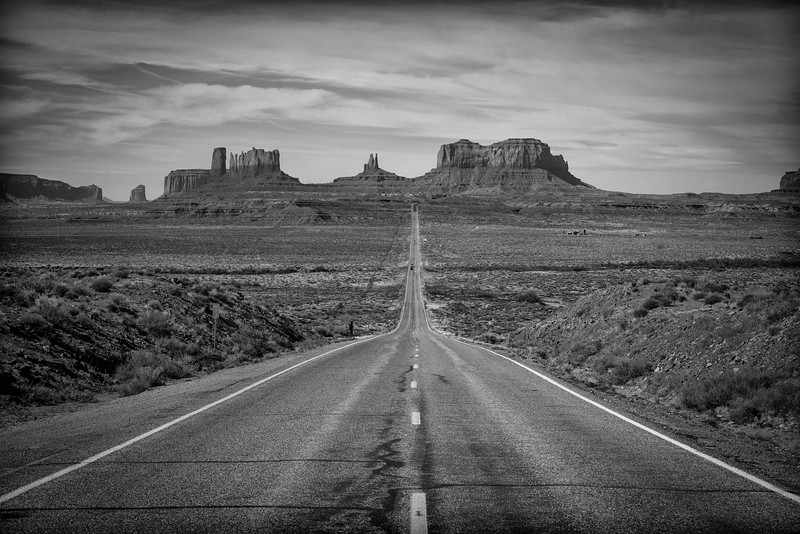 Approaching Monument Valley on Highway 163, Arizona