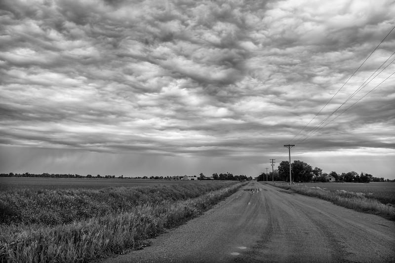 Country road near the Platte River, Kearney, Nebraska