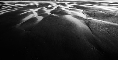 Patterns in the sand at Higgins Beach, Scarborough, Maine