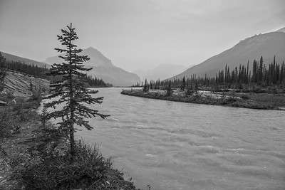 Hazy Athabasca Bend