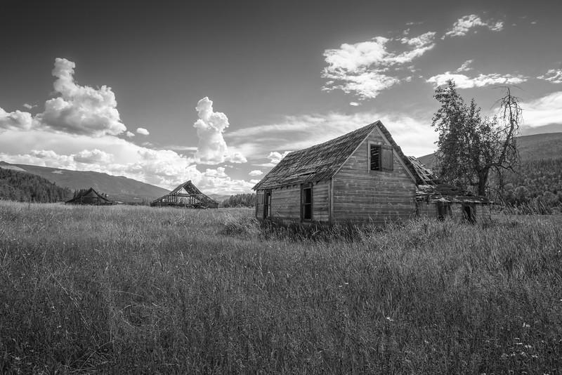 Mable Lake-House and Barns bw