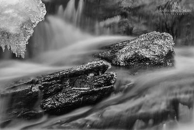 Potts Creek in winter, Bracebridge, Ontario, Canada