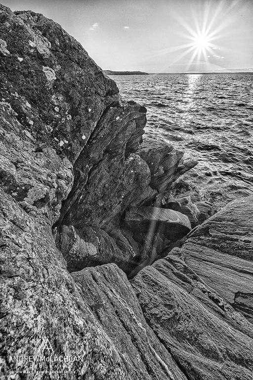 Georgian Bay as seen from the North Shore Rugged Hiking Trail, Parry Sound, Ontario, Canada
