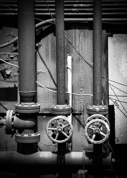 Old valves and pipes at the Bethlehem Steel Mill.