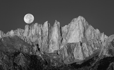 Mt Whitney Full Moon
